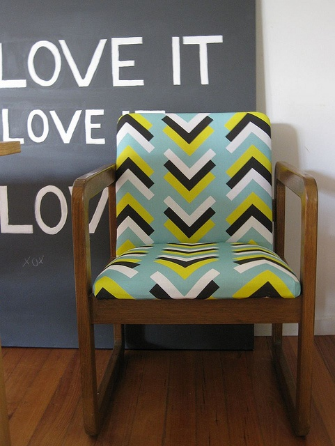 Retro chair new upholstery