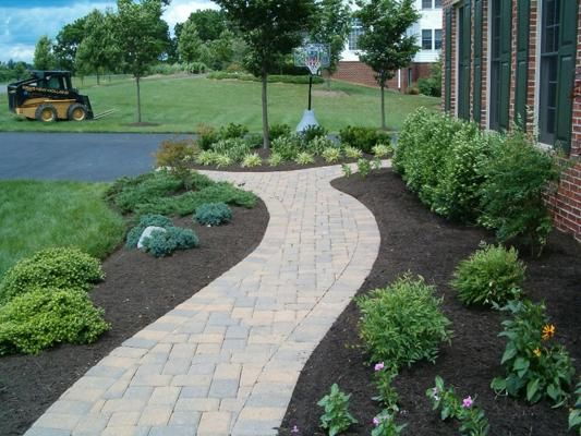 find this pin and more on walkway ideas custom paver walk designs