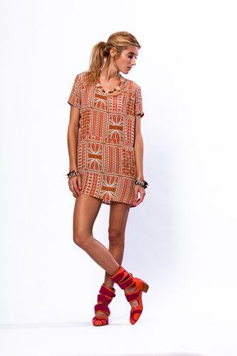 Vibrant print dresses.