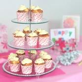 3-Tier Glass Cupcake Stand