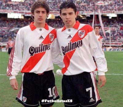 Pablo Aimar y Javier Saviola