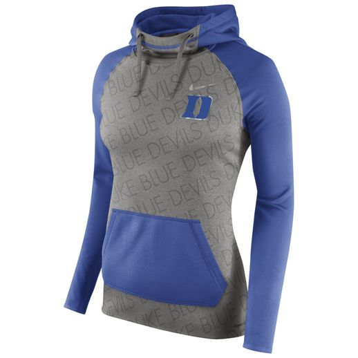 Nike Duke Blue Devils Women's Gray/Royal Champ Drive All-Time Hoodie #bluedevils #duke #college