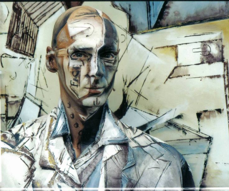 Chris Channing living painting - 'Braque'