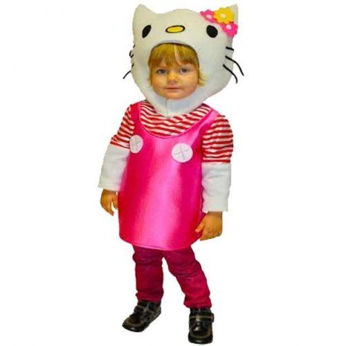 DisfracesMimo, disfraz de hello kitty niña varias tallas. Perfecto para imitar al icono infantil y de la moda Hello Kitty y disfratur con tus amigos en la fiesta de cumpleaños y carnaval. Este traje es ideal para tus fiestas temáticas de cuento y animales. fabricacion nacional.