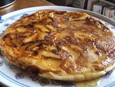 Le Sanciaux : crêpe fondante aux pommes caramélisées - Cuisine Campagne