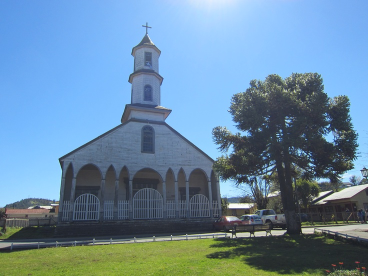 A typical wooden church on the island of Chiloe. Photo by CD.