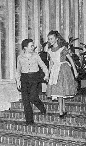 Bobby Driscoll and Kathryn Beaumont