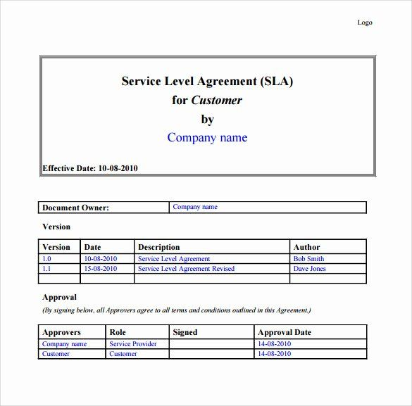 It Service Contract Template In 2020