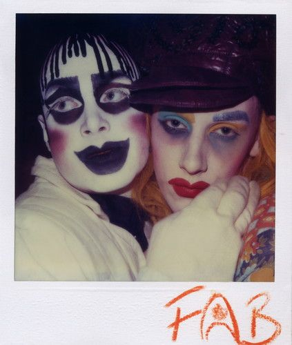 Leigh Bowery > 1980s Vintage street Style / club / fashion photography polaroid. Paul Hartnett / Taboo Club