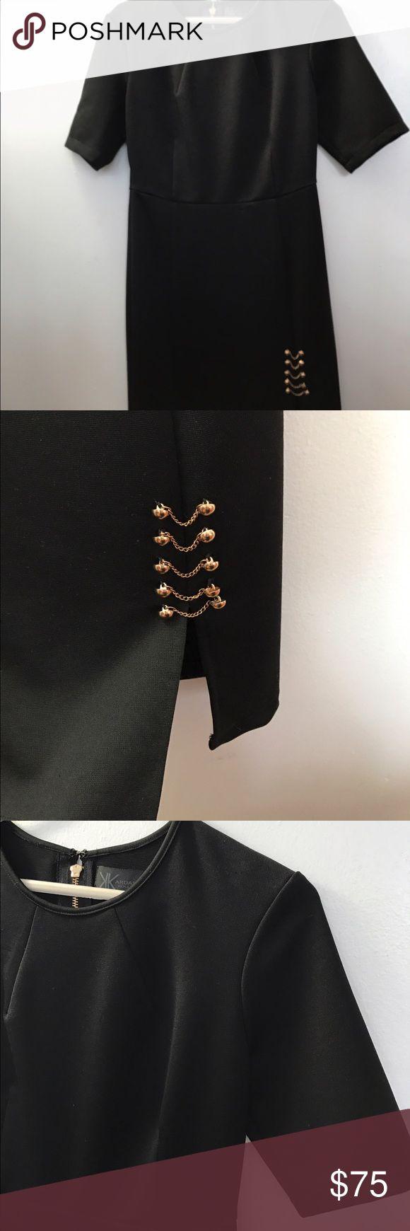 Kardashian Kollection Dress Kardashian Kollection black dress once with an small upper cut on the bottom. Midi Kardashian Kollection Dresses Midi