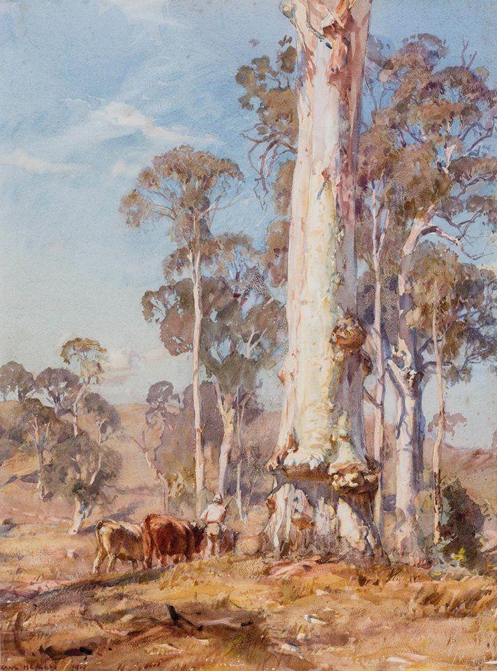 Sir Hans Heysen (1877-1968, Australia)