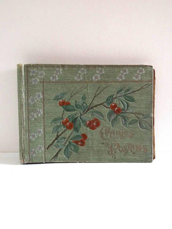 Art Nouveau Postcard Album or Photo Album  French Antique