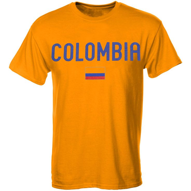 Colombia Country Flag T-Shirt - Yellow - $19.99