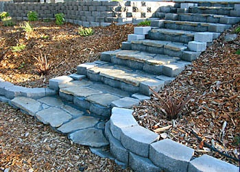 Steps out of blocks