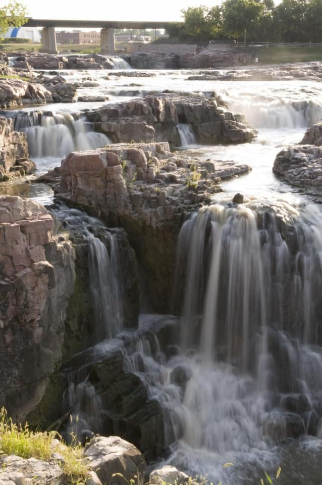 Falls Park in Sioux Falls...one of the must-see attractions on our two-day getaway. Click for details: http://www.midwestliving.com/travel/south-dakota/sioux-falls/sioux-falls-two-day-getaway/#