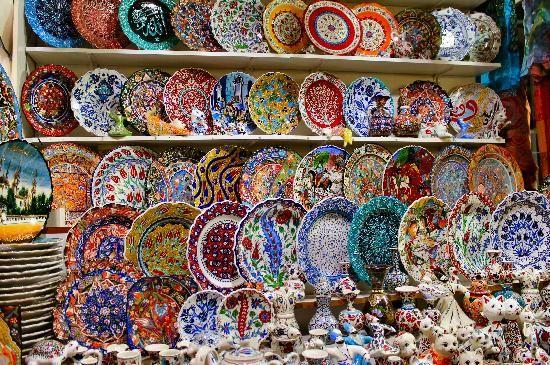 Ceramics at the Grand Bazaar - Picture of Grand Bazaar (Kapali ...