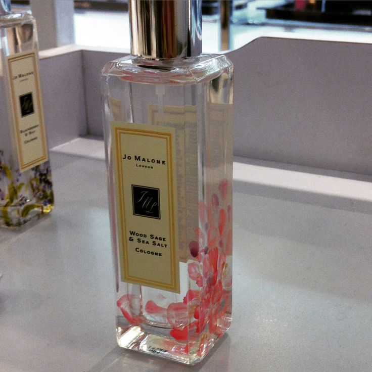Pink peony at the bottom of Jo Malone's Wood Sage & Sea Salt Cologne