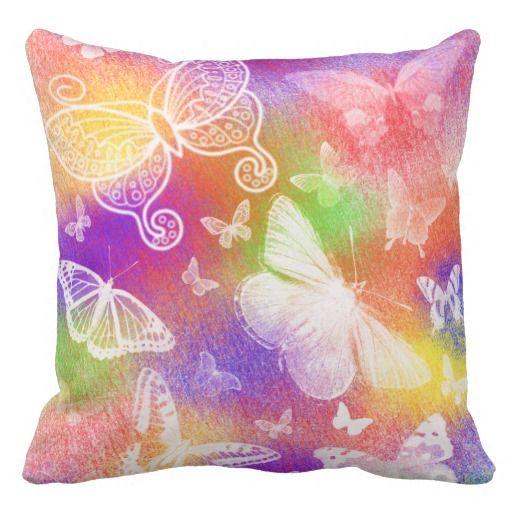 Beautiful Butterflies Throw Pillow-Julie Everhart Throw Pillow