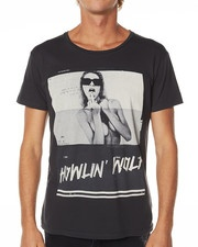 NENA AND PASADENA HOWLING WOLF TEE - VINTAGE BLACK on http://www.surfstitch.com
