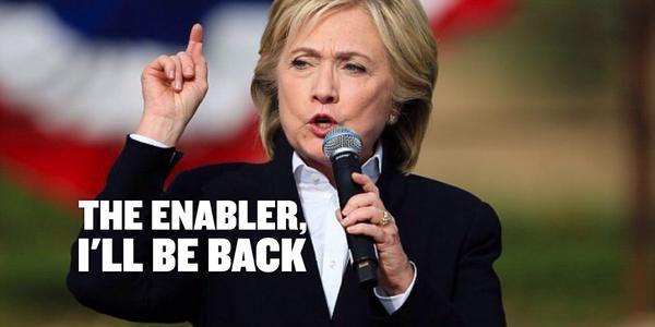 Gennifer Flowers says Hillary Clinton is Bill's Enabler.