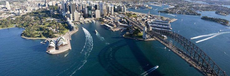 A bird's-eye view of Sydney, from the tower (one of the highlights along the hop-on hop-off bus route).