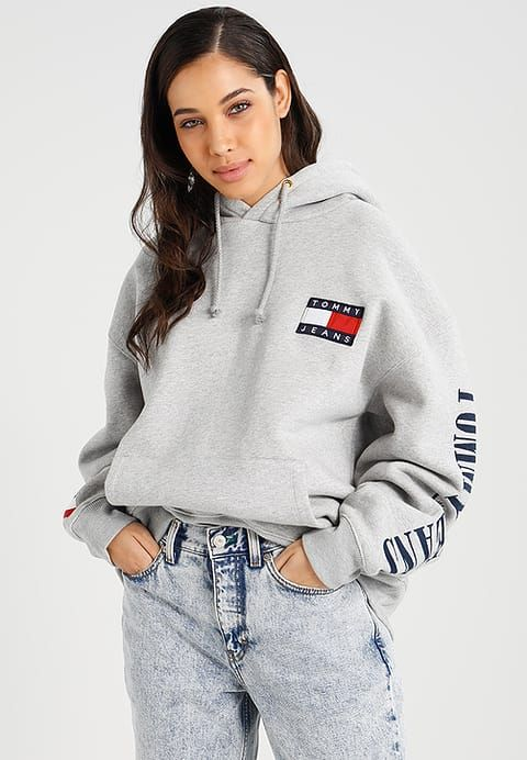 bb18e9504 Hilfiger Denim TOMMY JEANS 90S - Hoodie - grey marl for £109.99 (30/11/17)  with free delivery at Zalando