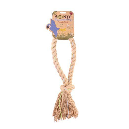 Play tug a war with your dog with this extremely durable and environmentally friendly rope. BecoThings Eco-Friendly BecoRope Large Jungle Ring. #dogtoy