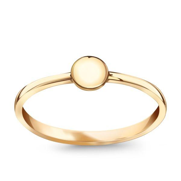 Flow - złoty pierścionek