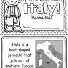 "This ""All About Italy"" booklet can be used for a very basic country study in lower elementary grades!  Just print out the pages, have kids cut alon..."