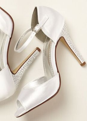 3d260b98968b By David s Bridal Dyeable satin sandal features stunning crystal heel  detail with an ankle strap for a secure ...