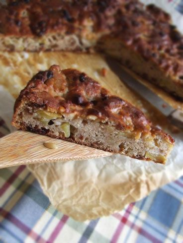 Torta di mele castagne pinoli e uvetta, senza zucchero