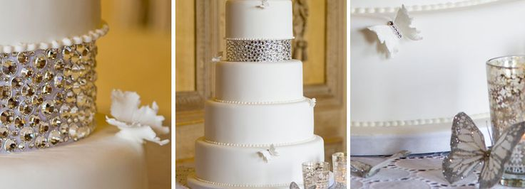 gorgeous cake and elegant butterflies