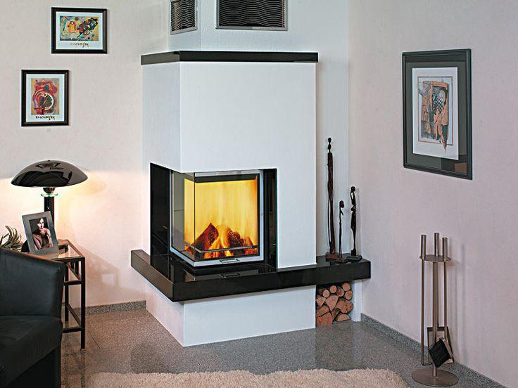 Las 25 mejores ideas sobre chimenea esquina en pinterest for Estufa hogar moderna