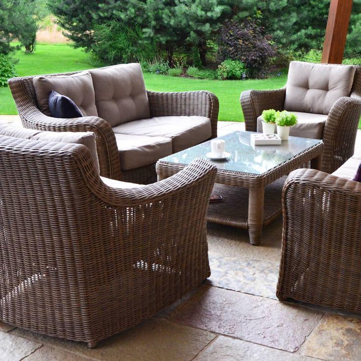 Meble ogrodowe z technorattanu Torino VIP zestaw wypoczynkowy
