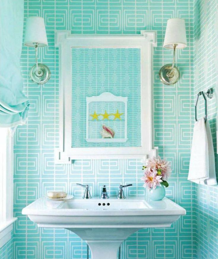 Best Bathrooms Images On Pinterest Downstairs Loo Small - Turquoise bathroom rugs for bathroom decorating ideas