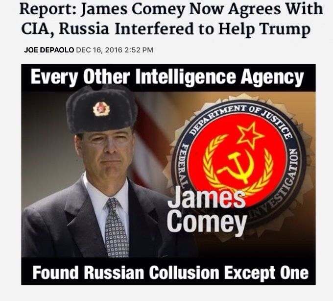 Isn't it odd that the FBI had been investigating Russia-Trump collusion for half a year but only admitted to Russian collusion after the election was over and months after all the other intelligence agencies had already confirmed it?