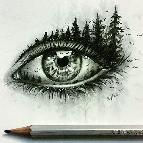 Double Exposure Eye  By @majla_art _ @arts__gallery
