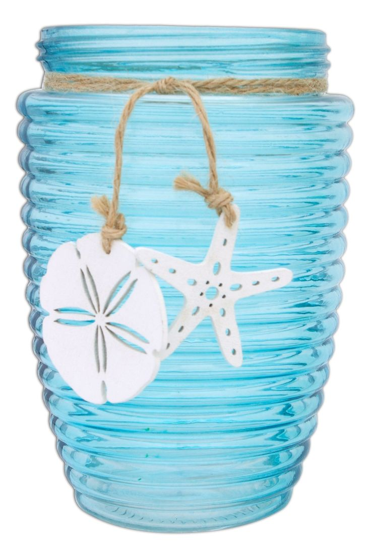 2914 best vases home dcor images on pinterest jars vase and vases hills parks 725 round turquoise sand dollar and starfish decorative glass vase large 725 reviewsmspy