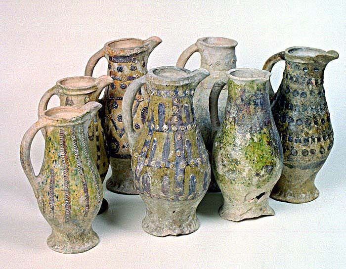 English Medieval jugs