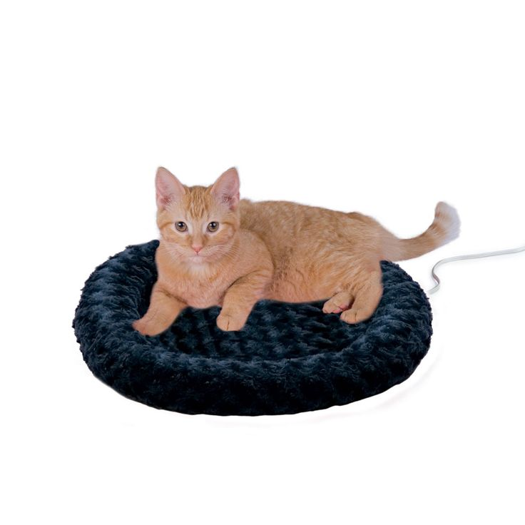 """18"""" L X 18"""" W X 3"""" H, An incredibly energy efficient 4 watt heater keeps this cat bed cozy for a snuggly nap. This bed is sure to please. Warms to your pet's normal body temperature when in use."""