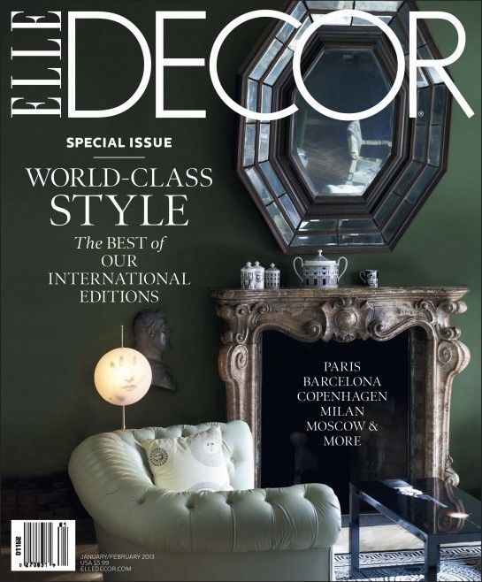 Home Decorating Magazine Subscriptions: Perfect Photo Composition ELLE DECOR Cover