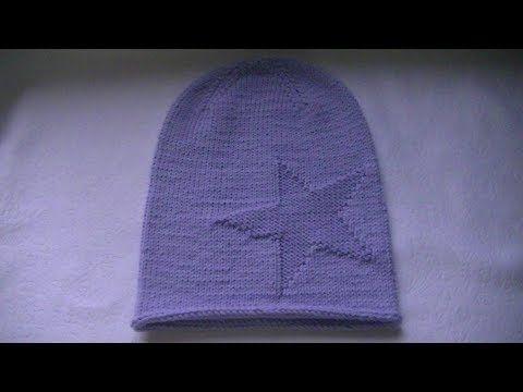Вяжем шапку с сердечком ♥ Вяжем спицами ♥ Wild Rose ♥ - YouTube