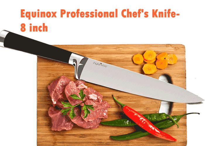 Equinox Professional Chef's Knife – 8 inch http://www.bestkitchenkniveslist.com/best-professional-chef-knife-set-reviews