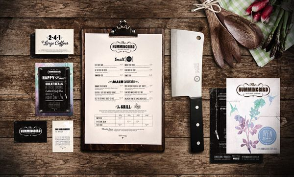 Branding : The Hummingbird Kitchen & Bar by Analogue – AMS Design Blog