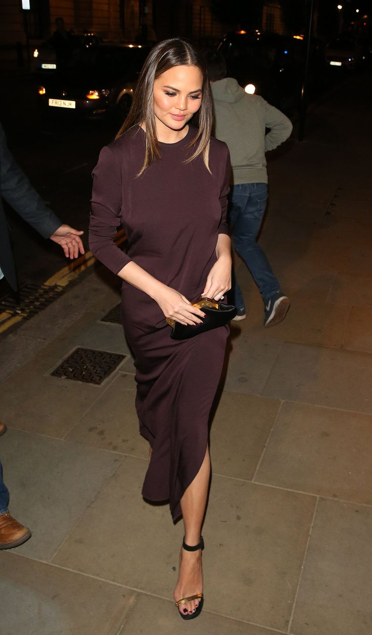 Chrissy Teigen - WHAT: The Row, Charlotte Olympia bag, Céline shoes WHERE: On the street, London WHEN: October 20, 2016