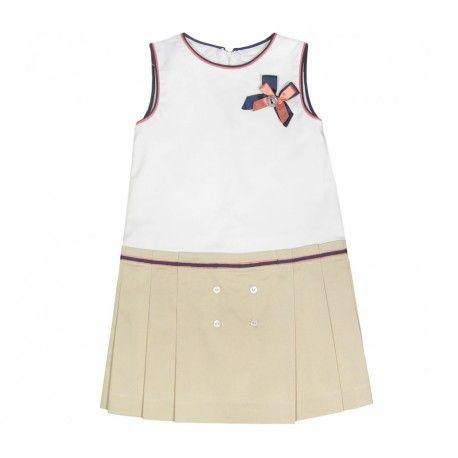www.pepaonline.com  Muy sencillo! Vestido de talle bajo de la marca Marta y Paula en Outlet para Niña (2-12 años). Aprovecha nuestros precios rebajados de moda infantil