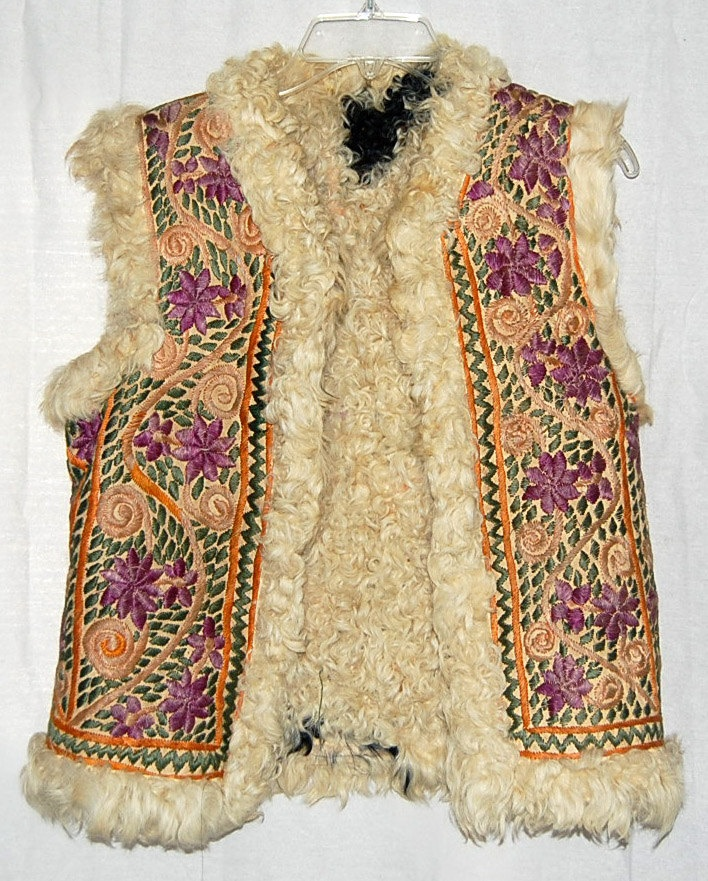 embroidered 60s sheepskin vest - Google Search