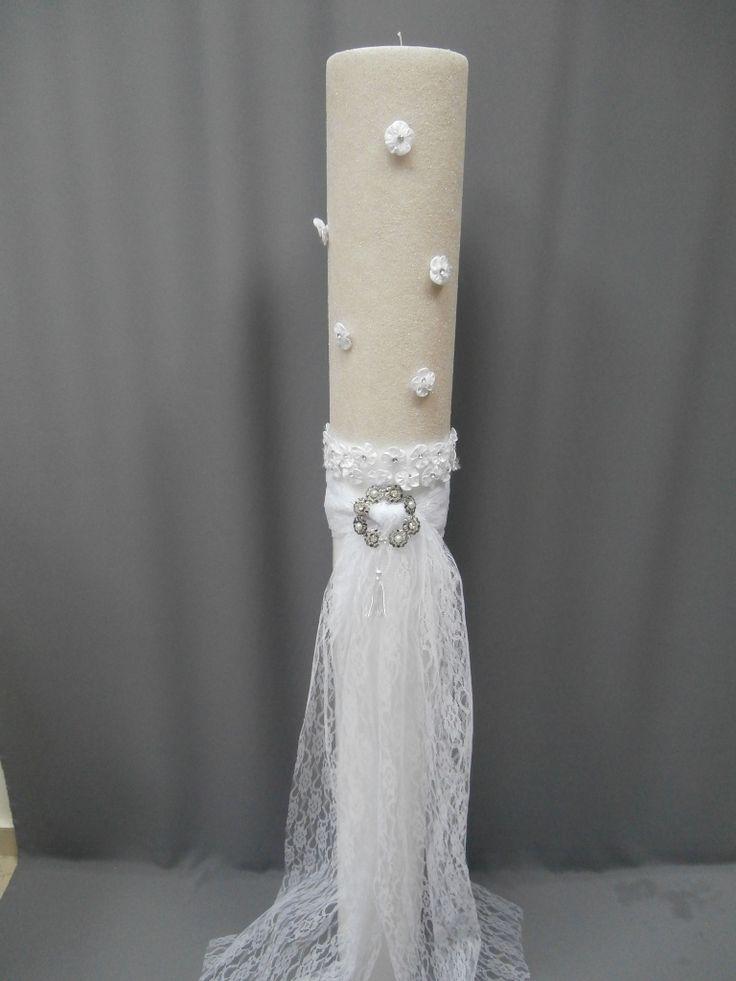 Φθηνές λαμπάδες γάμου στολισμένες : λαμπάδα γάμου στολισμένη 13Χ1,50 εκ ΚΩΔ.808