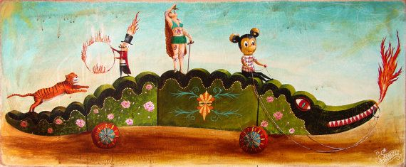 My painting reproduction / print *circo cocodrilo* by RobertRomanowicz on Etsy