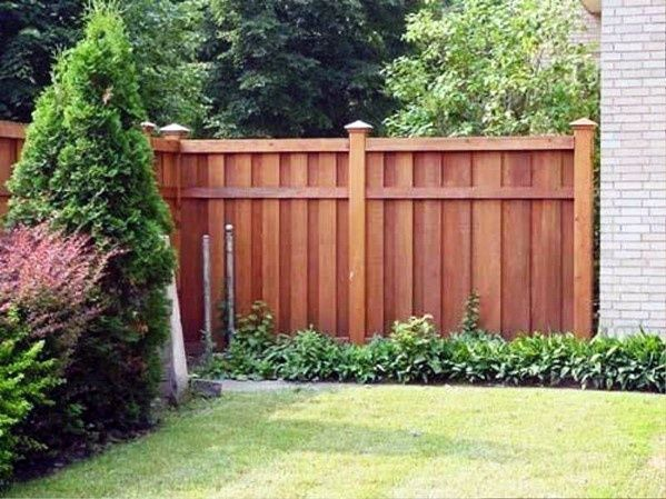 Top 50 Best Privacy Fence Ideas Shielded Backyard Designs Backyard Fences Fence Landscaping Privacy Fence Designs